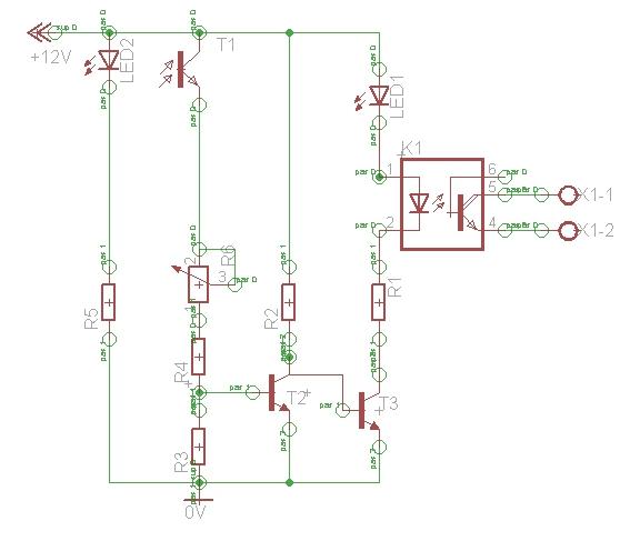 Schaltplan der Lichtschranke
