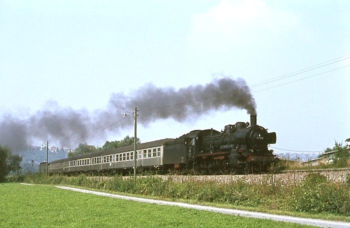 E4507 (Tübingen - Sigmaringen) mit 38 1772 am 28.8.1967