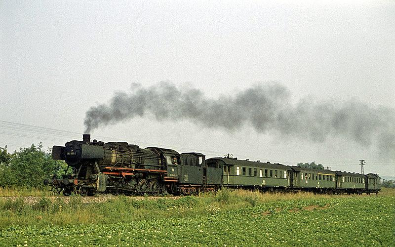 2733 (Crailsheim – Lauda) mit 051 060 am 2.8.1970 bei Bad Mergentheim