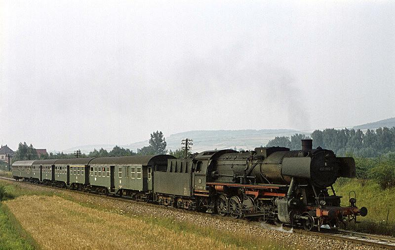 2730 (Lauda - Bad Mergentheim) mit 052 888 am 2.8.1970 bei Bad Mergentheim