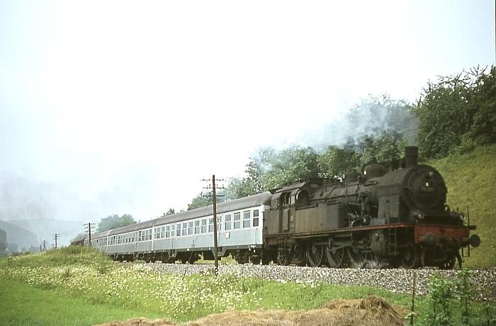N1435 (Stuttgart - Nördlingen) mit 78 300 am 8.8.1968