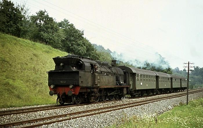N1452 (Schwäbisch Gmünd – Schorndorf) mit 78 195 am 8.8.1968