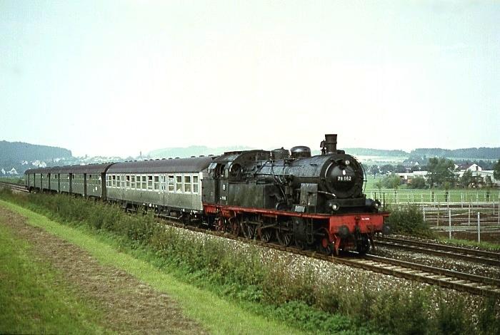 P1429 (Stuttgart - Schorndorf) mit 78 062 am 26.8.1967