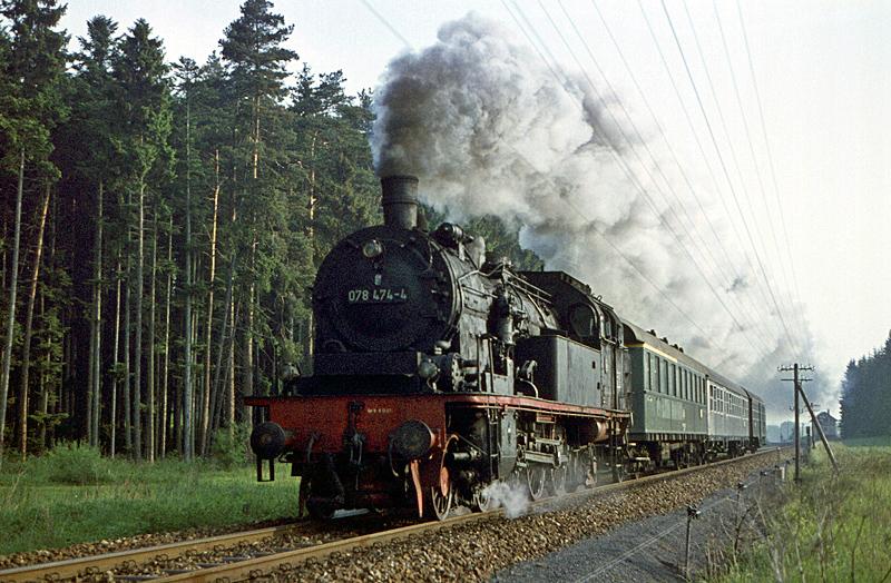 3901 Rottweil – Villingen mit 078 474 am 3.6.1971 bei Trossingen