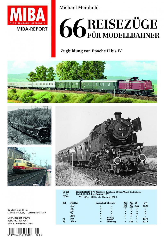Titelseite MIBA Report 66 Reisezüge