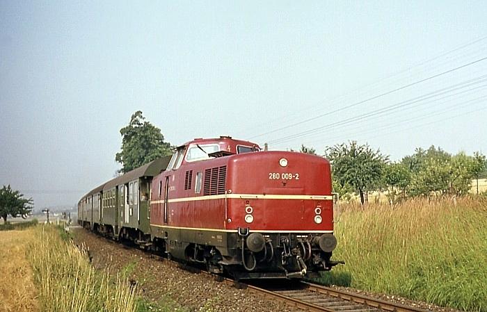 2031 (Coburg - Neustadt) mit V80 009 am 28.7.1969